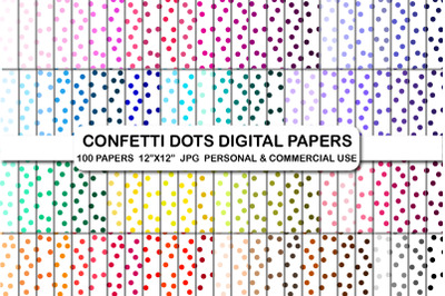 Confetti Dots Digital Background Papers
