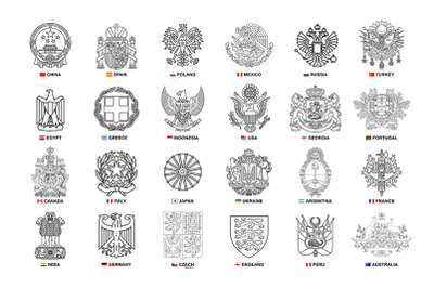 Set of coats of arms