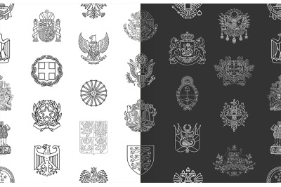 pattern with coats of arms