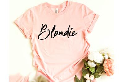 Blondie svg