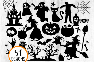 Halloween Silhouette SVG, Halloween svg