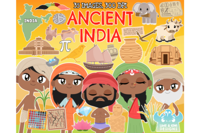 Ancient India Clipart - Lime and Kiwi Designs