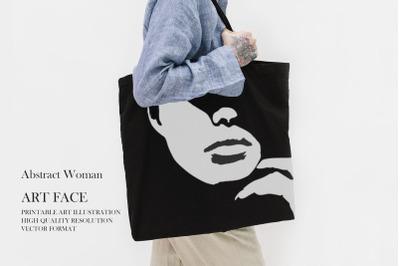 Woman Art Face Print