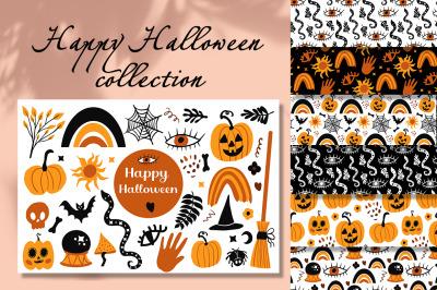 Happy halloween boho collection