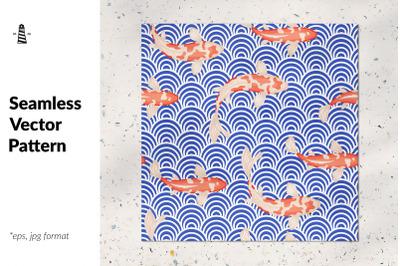 Japanese wave seamless pattern
