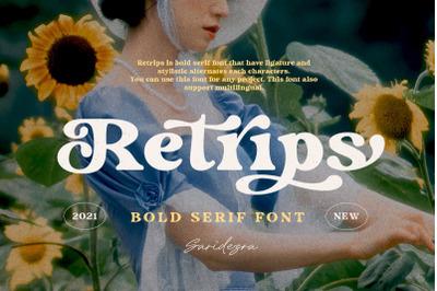 Retrips - Bold Serif Font