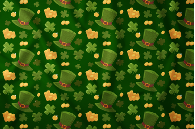 Happy Patrick Seamless Pattern