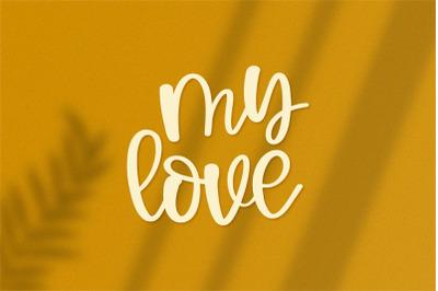 My love - A handwritten font