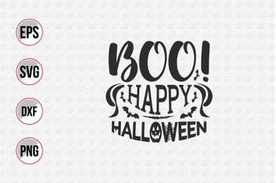 Boo! happy Halloween svg.