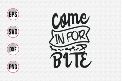 Come in for bite svg.