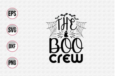 The boo crew svg.