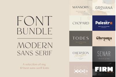 Modern Sans Serif Bundle