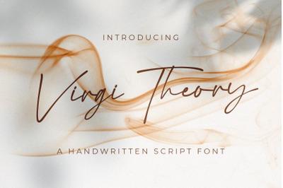 Virgi Theory - Handwritten Font