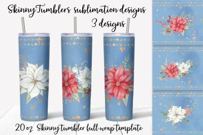Christmas sublimation design. Skinny tumbler wrap design.