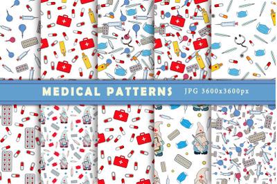 Medical patterns. Digital paper