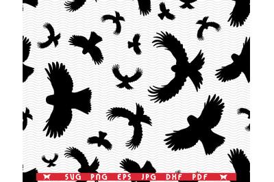 SVG Birds in flight, Seamless Silhouettes, Digital clipart