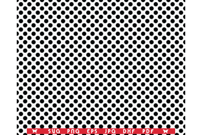 SVG Black Circles, Seamless pattern digital clipart