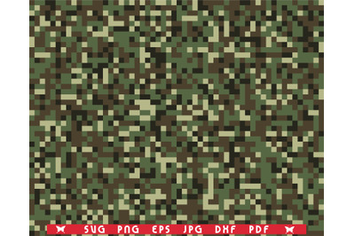 SVG Camouflage print, Seamless pattern digital clipart