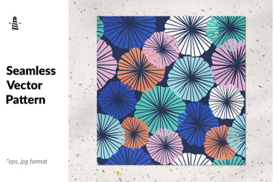 Fower umbrella seamless pattern