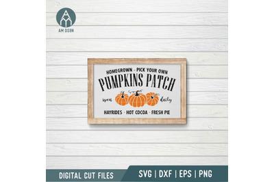 Pumpkins Patch svg, Farm Fresh Pumpkins svg, Autumn svg, Fall svg cut