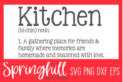 Kitchen Definition SVG PNG DXF & EPS Design Cut Files
