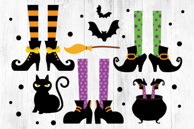 Witches Feet SVG, Witches Feet Clipart, Halloween SVG