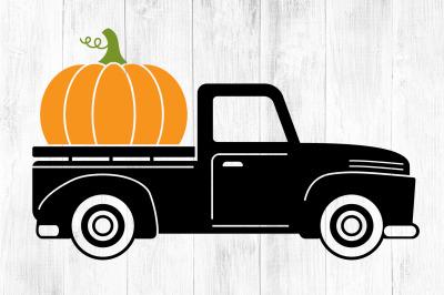 Pumpkin Truck svg, Fall Truck svg, Halloween