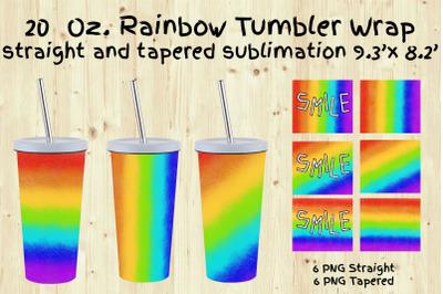 Tumbler Sublimation,Tumbler Design 20oz. Rainbow,smile.LGBTQ
