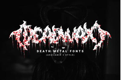Deadwax - Death Metal Fonts