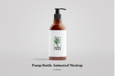 Pump Bottle Animated Mockup