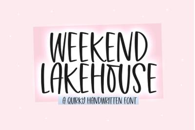 Weekend Lakehouse - Fun Handwritten Font