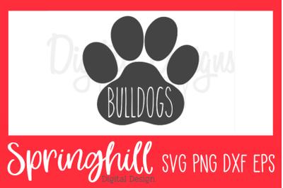 Bulldogs School Team Sports Mascot SVG PNG DXF & EPS Design Cut Files