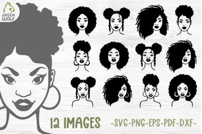 Black woman svg bundle Black woman clipart Juneteenth svg bundle