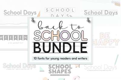 School Fonts Bundle - Easy to Read and Trace Fonts