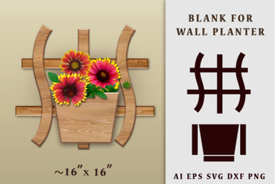 Blank for wall planter