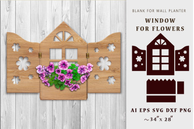 Window for flowers. Home decor