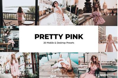 20  Pretty Pink LR Presets