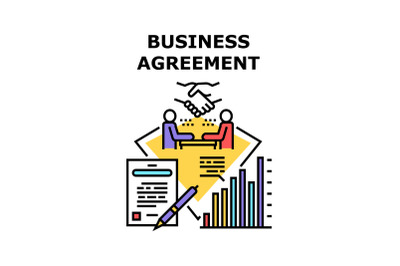Business Agreement Signing Vector Concept Color
