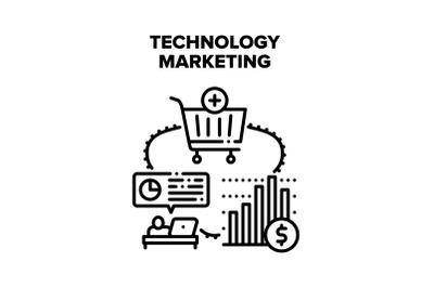 Technology Marketing Vector Concept Illustration