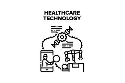 Healthcare Technology Vector Concept Illustration