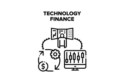 Technology Finance Vector Concept Illustration