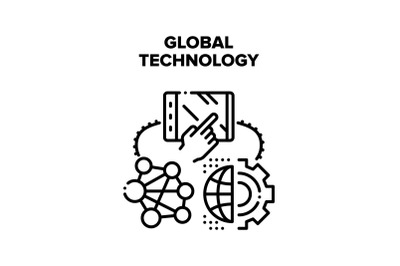 Global Technology Vector Concept Illustration