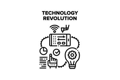 Technology Revolution Vector Concept Illustration