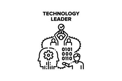 Technology Leader Vector Concept Illustration