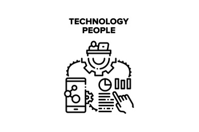 Technology People Vector Concept Illustration