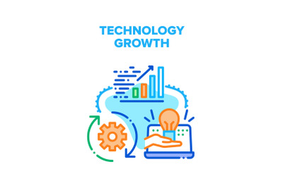 Technology Growth Vector Concept Illustration