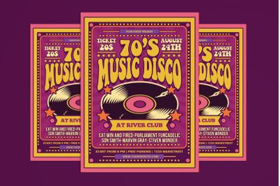 70's Music Disco Flyer