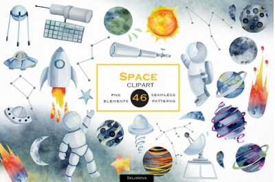Space clipart for kids