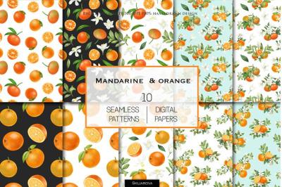 Oranges patterns set
