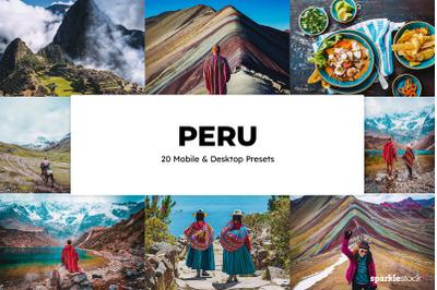 20 Peru Lightroom Presets & LUTs
